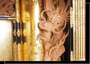 袖彫り彫刻の画像