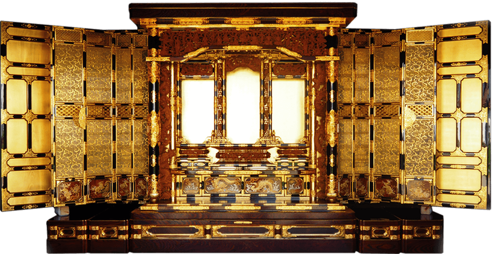 細部にまでこだわった最高峰の金仏壇です