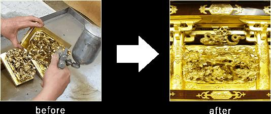 分解洗浄・クリーニングケース2のビフォーアフター