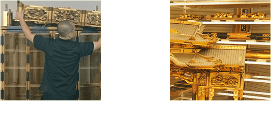 お仏壇の完全修復 分解作業のビフォーアフター